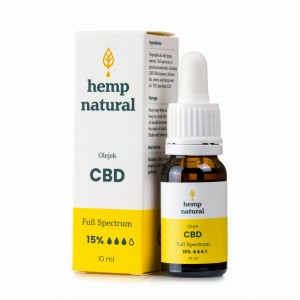 Olejek Konopny 15% CBD Hemp Natural